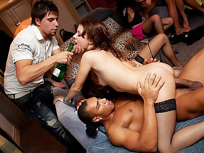 Crazy group fucking at hot sex party